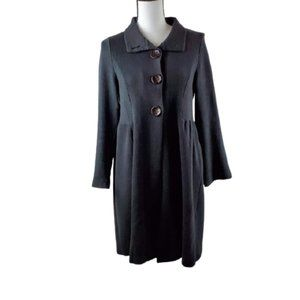 Chalet Lagenlook Button Front Black Cardigan